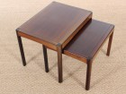 Danish mid-century modern nesting tables in  rosewood