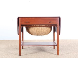 Mid-Century Modern scandinavian sewing table AT 33 by Hans Wegner for Andreas Tuck Furniture