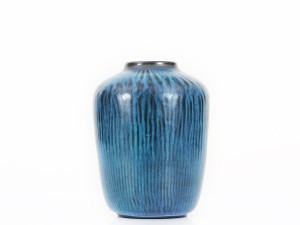 Mid-century modern Turquoise Vase model 5078 by Gunnar Nylund for Nymolle