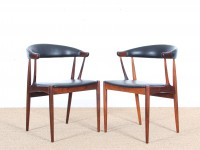 Mid-century modern  armchair in Rio rosewood by Johannes Andersen