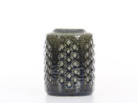 Mid-Century Modern ceramic dark green vase by Per and Annelise Linnemann Schmidt for Palshus