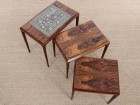 Mid-Century  modern  nesting tables in Rio rosewood by Johannes Andersen