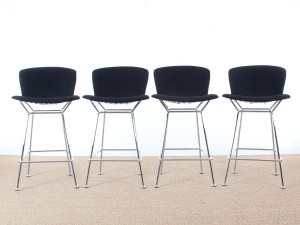 Set of 4 Diamond bastools by Harry Bertoia for Knoll
