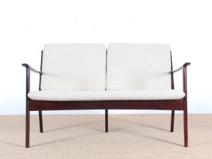 Danish mid-century modern sofa 2 seats  by Ole Wanscher