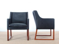 Mid century modern pair of armchair Model 3246 by Børge Mogensen for Fredericia Stolefabrik