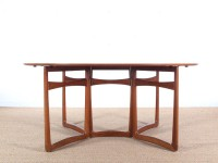 Mid-Century  modern teak  folding dining table by Hvidt and Mølgaard Nielsen model 20/59