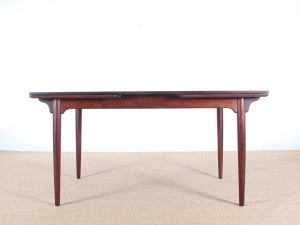 Mid-Century  modern large  dining table by Oman Junior in Rio rosewood.