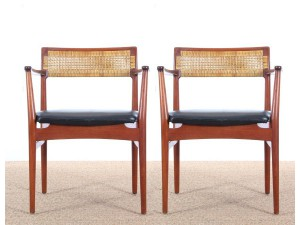Mid-Century Modern scandinavian pair of armchairs model W26 by Erik Wørts