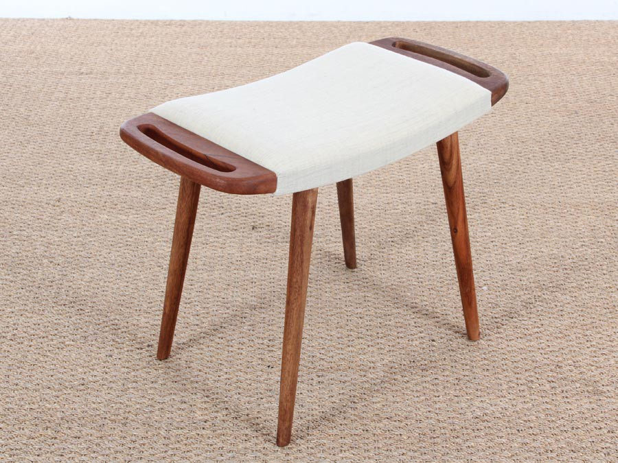 Danish Modern Stool With Handles New Release 9 Colors