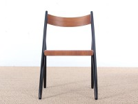Mid modern Finnish set of 4 Scandinavian teak chairs