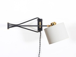 Mid modern french wall lamp by Rene Mathieu