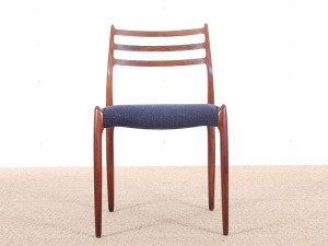 Set of 6 Scandinavian rosewood chairs N° 78