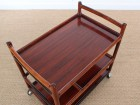 Scandinavian service trolley in rosewood
