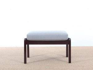Mid-Century Modern Danish foot rest in mahogany for  lounge chair  model PJ 112 by Ole Wanscher
