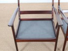 Mid-Century Modern Danish  lounge chair in mahogany model PJ 112 by Ole Wanscher