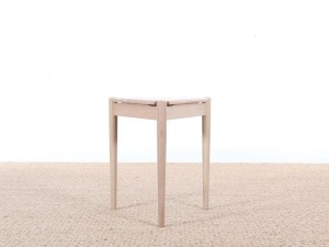 Mid-Century danish side table or stool in oak, new edition