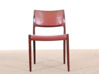 Mid-Century danish set of 6 chairs in Rio rosewood by Niels Møller