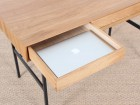 """standing desk in solid oak with 3 drawers model """"Roman"""""""