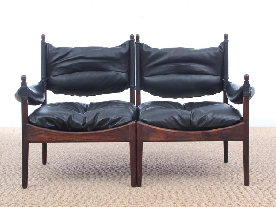 Mid-Century Modern Danish 2 seats sofa in Rio rosewood model ...