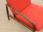 Mid-Century Modern Danish lounge chair in Rio rosewood model paper Knive by Kai Kristiansen