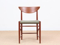 Mid-Century Modern Danish set of6 chairs in teck model 316 by Hvidt & Mølgaard Nielsen