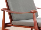 Mid century modern pair of armchair in teak model FD 133 by Finn Juhl