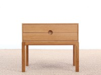Mid-Century  modern chest of drawers or bed table in oak modele 384 by Kai Kristiansen
