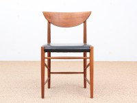 Mid-Century Modern Danish set of 6 chairs in teck model 317 by Hvidt & Mølgaard Nielsen