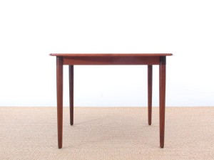 Mid-Century modern dining table in teak by H. W. Klein, 4/10 seats
