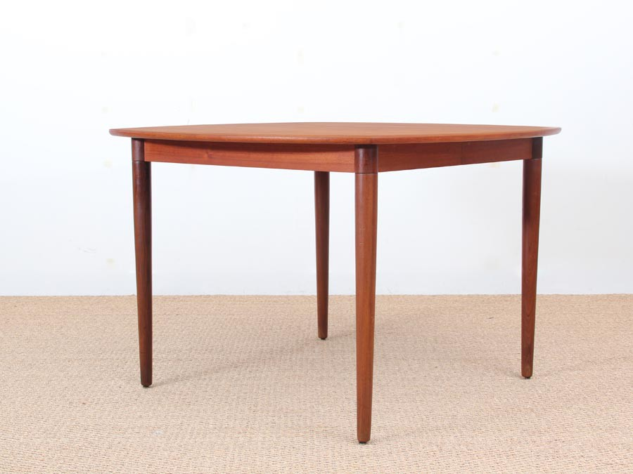 Mid Century Modern Dining Table In Teak By H. W. Klein, 4/10 Seats