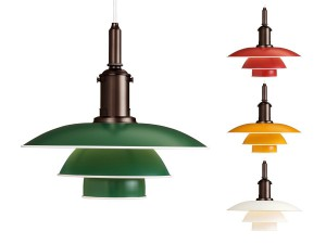 Mid-Century  modern scandinavian table lamp PH 31⁄2-3 aluminium by Poul Henningsen for Louis Poulsen.