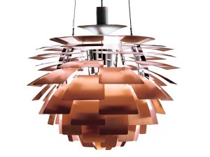 Mid-Century  modern scandinavian pendant lamp PH Artichoke copper by Poul Henningsen for Louis Poulsen