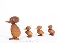 Duck in teak designed by Hans Bølling