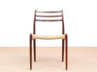 Mid-Century  modern scandinavian set of 4 Scandinavian rosewood chairs N° 78 by  Niels O. Møller