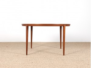 Table basse scandinave ronde teck