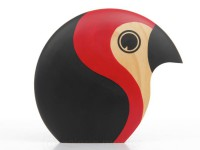 large Discus red bird by Hans Bølling. New realese.