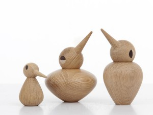 Bird Family in oak or smoked oak by Kristian Vedel for Architectmade. New realese.