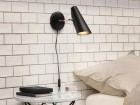 "Mid-Century  modern wall  lamp S-30016 ""Birdy"" black short arm by Birger Dahl. New release."