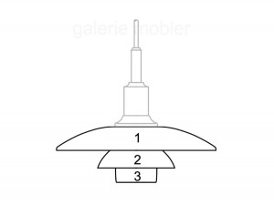 Spare parts for Louis Poulsen pendant lamp PH 3/2