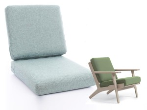 Set of cushions for Hans Wegner lounge chair Getama  GE 290 - foam and cover- seat and back
