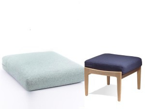 Cushion for Hans Wegner Getama  foot rest GE 290 S - foam and cover-