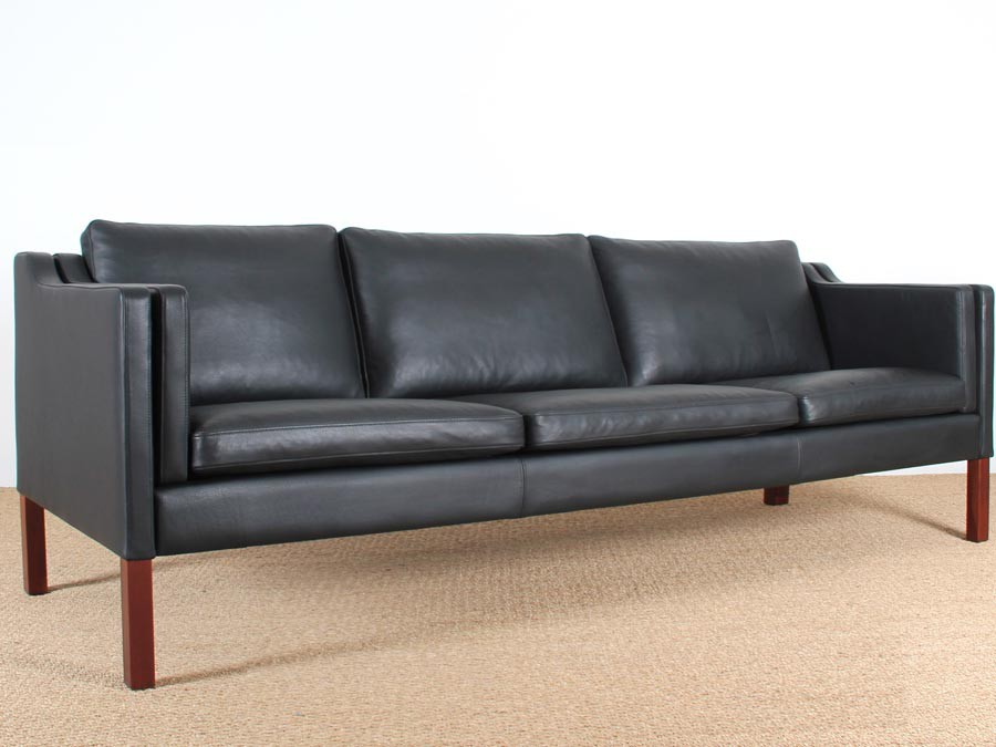 Peachy Danish 3 5 Seater Leather Sofa Designed By Borge Mogensen Forskolin Free Trial Chair Design Images Forskolin Free Trialorg