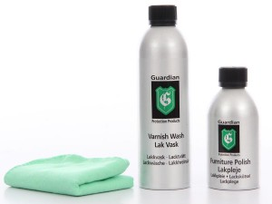 Furniture care kit for wood glossy lacquered furniture