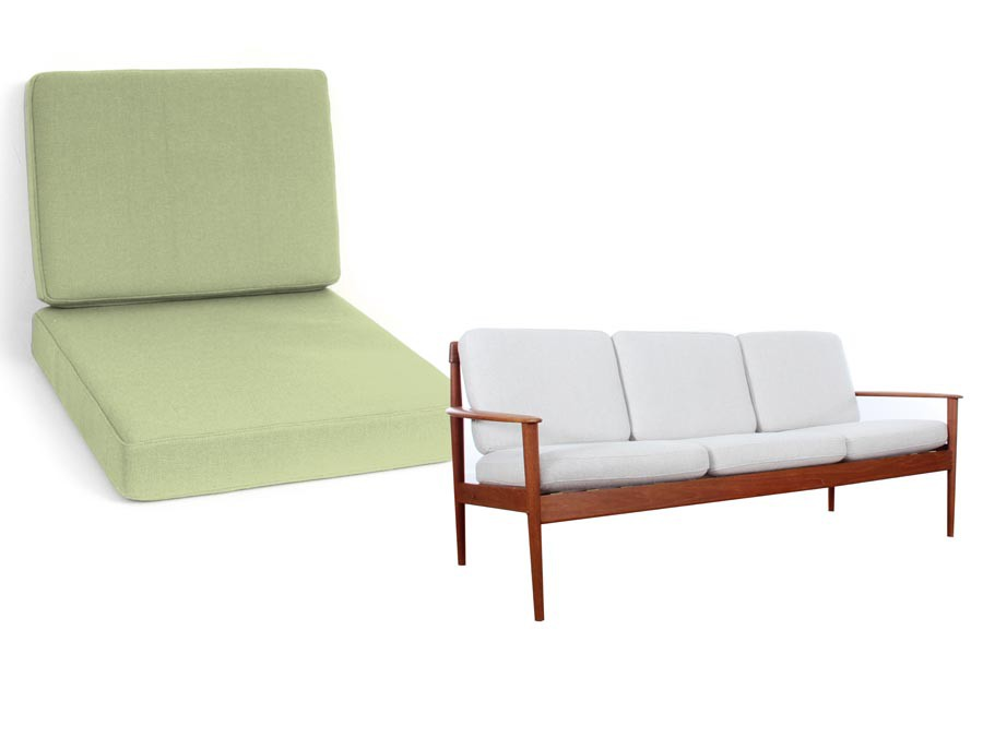Set of cushions for Grete Jalk sofa 3 seats Poul Jepesen PJ ...