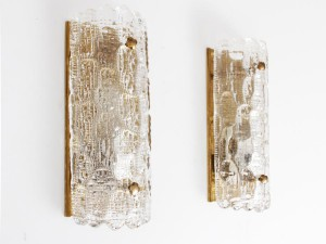Mid century modern pair of wall lamp  design by Carl Fagerlund.