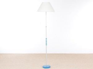 Mid-Century  modern scandinavian floor lamp in aluminium and glass by Carl Fagerlund.