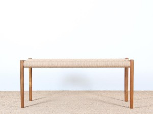 Mid-century modern  bench n°63 by Niels Moller. New edition