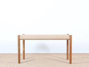 Mid-century modern  bench n°63, 120 cm,  by Niels Moller. New edition