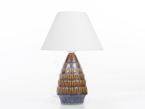 Mid century modern scandinavian ceramic small lamp by Soholm