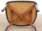 Mid-Century  modern scandinavian set of 6 rosewood chairs modele 61 by Harry Østergaard